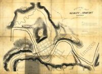 Military map of the vicinity of Frankfort KY c1863 repro 36x24