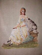 EP 3575 Vintage Dritz Tramme Lady & Dog Needlepoint Canvas