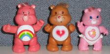 Vintage 1983/1984 Care Bears Pvc Poseable Figures Baby Hugs/Tenderheart/Cheer