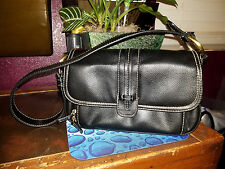 VILLAGER - Liz Claiborne Black Organizer Shoulder bag Handbag purse