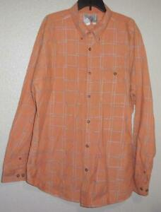 The Territory Ahead Orange Rust Dress Shirt Silver Detail XXL 2XL Button Collar