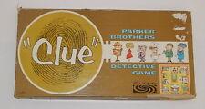 Vintage 1963 CLUE DETECTIVE BOARD GAME Parker Bros.