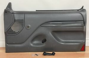 1992-1996 Bronco F150 F250 F350 OEM PASSENGER INTERIOR DOOR PANEL *GRAY,CRANK*