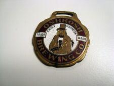 Circa 1910 Chief Oshkosh Enameled Watch Fob, Wisconsin