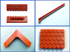 Playmobil toit toiture moyen age médiéval chateau maison rouge raccord joint