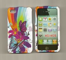 Lovely Butterfly Case hard Cover Apple iPhone 4 4s 4G 8gb 16GB 32GB rubberized