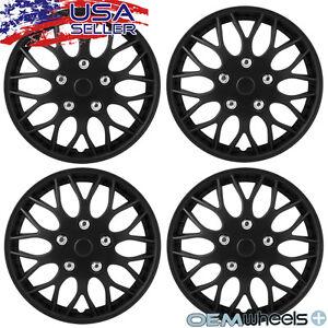 "4 New OEM Matte Black 15"" Hubcaps Fits Dodge SUV Car Center Wheel Covers Set"
