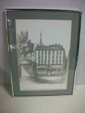 Framed Freddy Baronian Restaurant Vettard 7 place Bellecour Lyon
