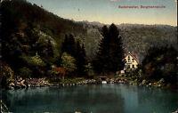 Badenweiler Schwarzwald Ansichtskarte 20er Jahre Partie an der Bergmannsruhe See
