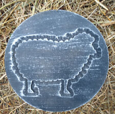 Sheep plaque plastic mold  plaster concrete abs lamb ewe casting mould