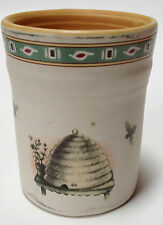 Pfaltzgraff Naturewood Candle Holder Jar Ceramic Pottery Beehive Bee Design