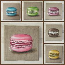 Tableau Peinture Petit  Macaron (toile lin)