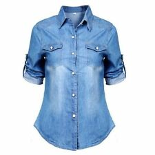 Machine Washable Casual Solid Tops & Blouses for Women