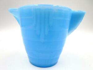 AKRO AGATE Small STACKED DISC and Interior Panel TEAPOT No Lid Opaque Blue