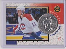 RARE 1997-98 PINNACLE MINT SAKU KOIVU SILVER / NICKEL COIN & CARD #15  CANADIANS