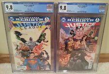 Justice League #1 & Variant REBIRTH CGC 9.8 (2 CGC Comics) 1st Prints