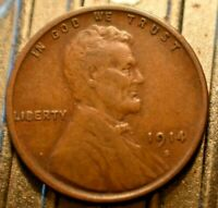 Higher Grade!  1914-S Lincoln Wheat Cent 1c.  (#5847)