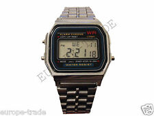 Classic Retro Vintage Silver Digital Watch