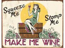 NEW Moore - Make me Wine tin metal sign