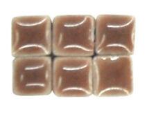 Medium Brown Ceramic Tiny Mosaic Tiles - 5 mm Tiles - 1 oz - 190-200 tiles
