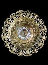 Reloj De Pared Latón Oro Barroca Reloj Cuarzo Redondo 31cm Decoración De Pared