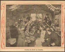 ARBRE DE NOEL EN FAMILLE CHRISTMAS FAMILY TREE IMAGE 1913