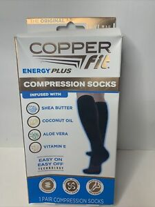 COPPER FIT Energy Plus Compression Socks Unisex Size L/XL M 9-12 W 10-13
