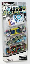 TECH DECK 96mm 3pk Fingerboards Mini SKATEBOARDS ORGANIKA w STICKERS NEW