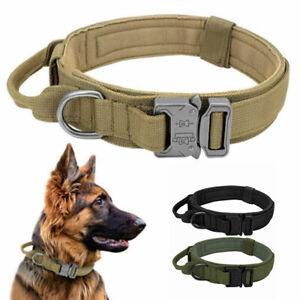 Portable Outdoor Tactical Pet Dog Collar Nylon Lightweight Adjustable Collar AU