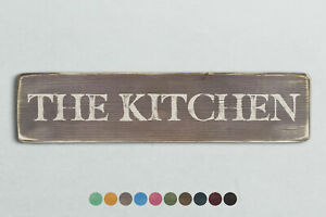 THE KITCHEN Vintage Style Wooden Sign. Shabby Chic Retro Home Gift