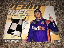 Denny Hamlin Signed 8x10 Burn Out  Photo NASCAR autograph COA