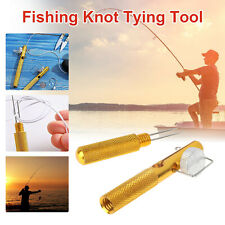 Fishing Quick Knot Tying Tool Fast Nail Knotter Line Cutter Clipper Nipper Hook
