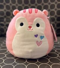 "NWT Squishmallow 8"" Pink Squirrel Sarah Valentine 2020 plush kellytoy NEW"