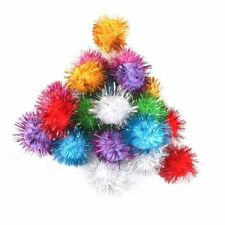 21pcs Tinsel Pompoms Balls Cat Favorite Toy Sparkle Balls Assorted Color