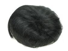 Black Fake Artificial Imitation Synthetic Hair Bun with Drawstring