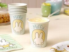 1st Birthday Baby Miffy Cups x 8 - Birthday Tableware