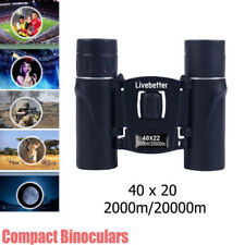 40x22 ZOOM 2km/20km Militar Prismáticos Compacto Binoculares HD Vision Nocturna