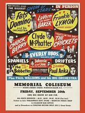 "Buddy Holly / Chuck Berry Salem 16"" x 12"" Photo Repro Concert Poster"