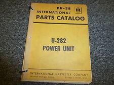 International Harvester IH U282 Engine Power Unit Parts Catalog Manual Book PU38