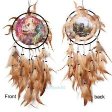 Handmade Dream Catcher Net With feathers Wall Hanging Decoration Wolf Totem Gift