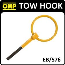 EB/576 OMP RACING TOW HOOK 80mm FIA APPROVED - STAINLESS STEEL PAINTED YELLOW