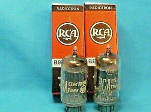 2 RCA 12AX7/ECC83 Black Plates D Getter