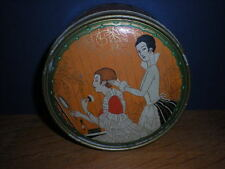 Art Deco Ladies Powder Tin Richard Hudnut Three Flowers Dusting Powder
