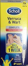 SCHOLL Verruca & Wart Complete Treatment Pen 2ml Easy One Click Applicator