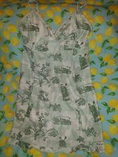 Nike Dri-Fit Green& Cream  Toile Print Tennis Dress Sz Small(4-6) Sexy Rare Htf