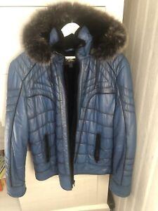 Argos Leder Winter Jacke mit Pelz Gr.L NEU