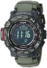 CASIO Pro Trek Quartz Stainless Steel and Silicone Casual Watch prw-3510y-8cr