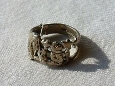 Disney Sterling Silver Winnie The Pooh Characters Ring 925 Size 6