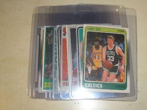 1971-1988 Topps Fleer Larry Bird Magic Johnson Jerry West Clyde Drexler Lot of 9