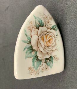 Iron Shaped Succulent Floral Patterned Ceramic Mini Planter Vintage